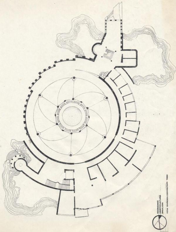 Apácarácsos pavilon rajza